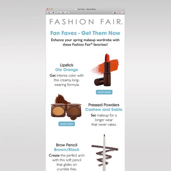 Fashion Fair 'Fan Faves' Campaign