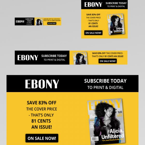 EBONY Magazine Web Banner Ads